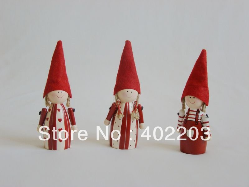 christmas decorations -angel baby standing-ludo standing-3designs asst.-WOOD ELF(China (Mainland))