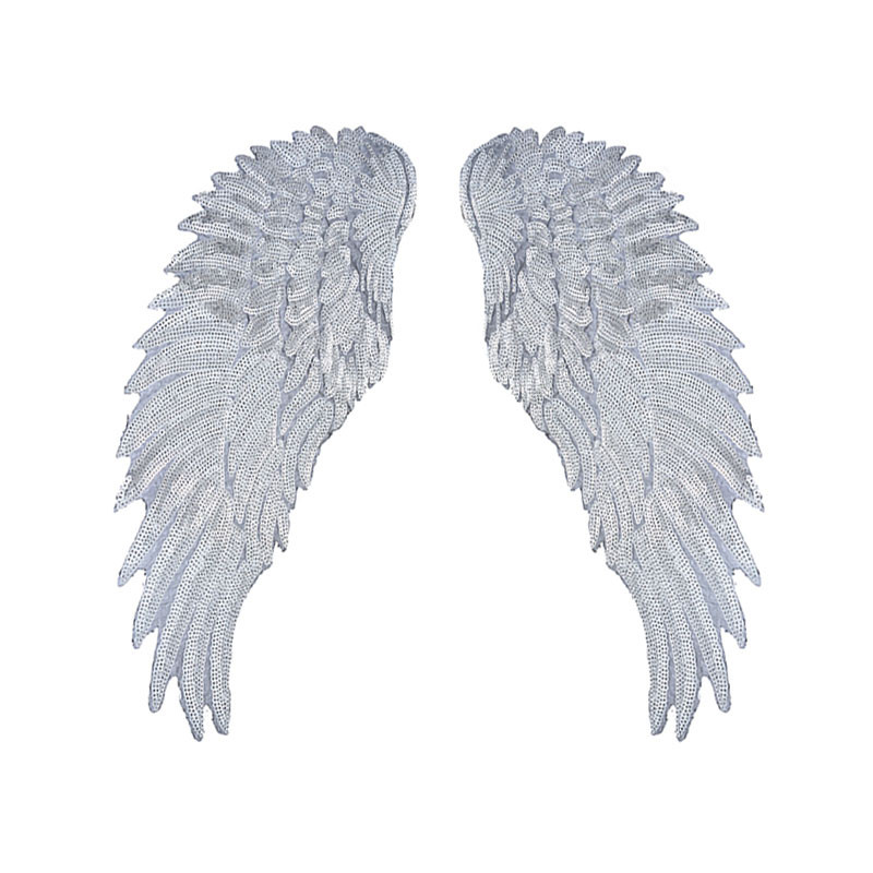 Hoomall-Sequins-Patch-DIY-Angel-Wings-Patches-For-Kids-Clothes-Sew-on-Embroidered-Patch-Motif-Applique