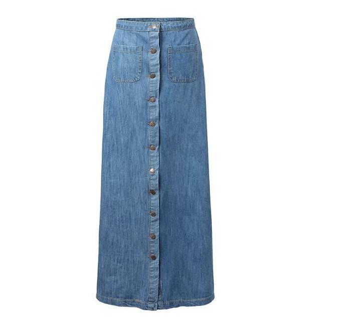 2015 korean style summer skirt new arrival denim blue