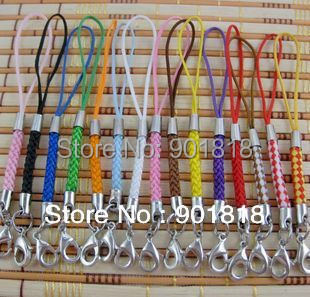 50pcs/lot mobile Phone Strap Lariat Lanyard Cord with lobster clasp Jewelry Findings 5cm F1269A(China (Mainland))