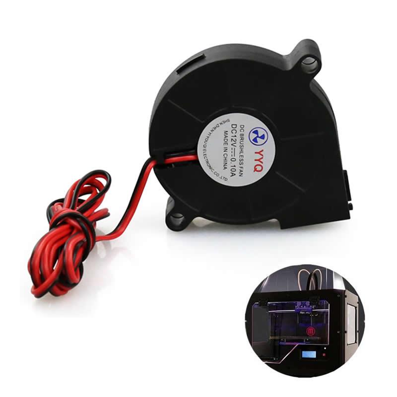 1Pc 12V DC 50mm Blow Radial Cooling Fan Hotend Extruder For RepRap 3D Printer