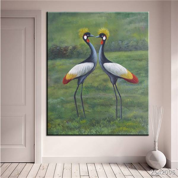 dp artisan no frame red crowned crane animal arts printed oil painting on canvas wall painting for home decor wall picture gift - Artisan Home Decor
