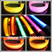 Free Shipping Fashion Bicycle Safety LED Armbands Mesh Band+Flashing Light 6 colors for Choice
