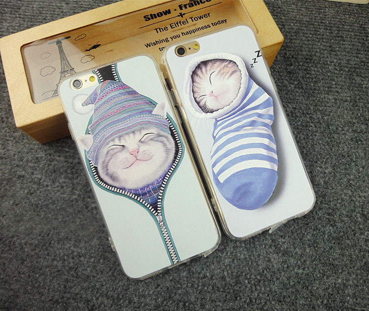Lovely cartoon cat Back Case Cover For iPhone 5 case Socks cat pattern for iPhone 5S 5G Mobile Phone shell CSJK0213(China (Mainland))