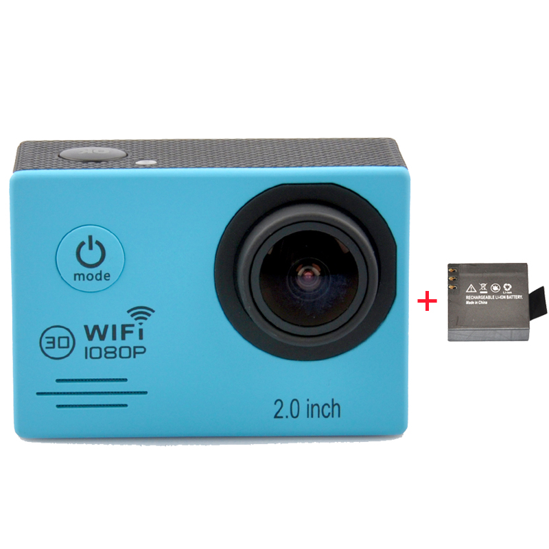 Full HD 1080P 30FPS With WiFi 2.0'' LCD Screen Sport Action Camera Digital Video Camera + Extra 1pcs Battery