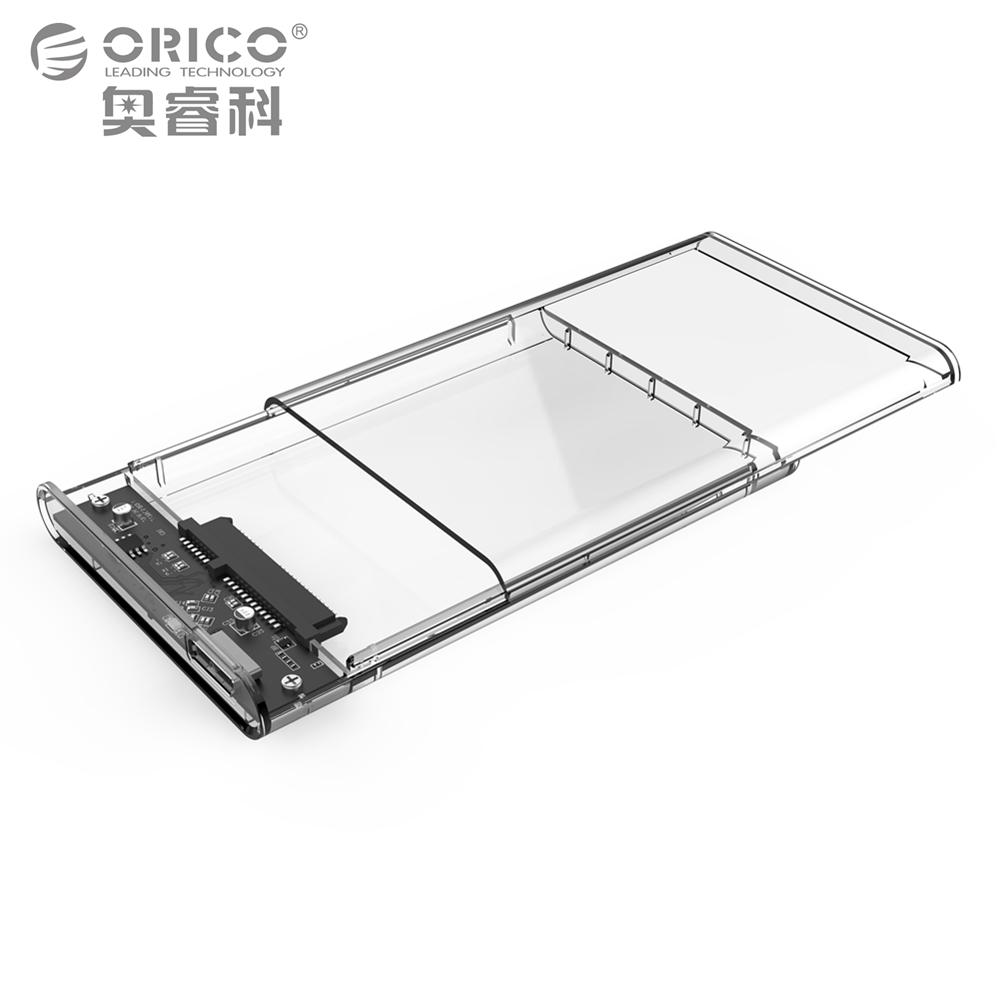 "2.5"" USB 3.0 SATA Hd Box HDD Hard Disk Drive External HDD Enclosure Transparent Case Tool Free 5 Gbps Support 2TB UASP Protocol(China (Mainland))"