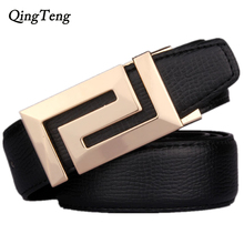 Buy newest Style men's belt brand designer mens belts high genuine leather gold Smooth buckle Cowboy hip strap for $11.88 in AliExpress store