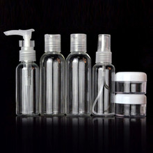 6 Pieces 1 SET Mini Plastic Transparent 75ml Small Empty Spray Bottle For Make Up And Skin Care Refillable Bottle(China (Mainland))
