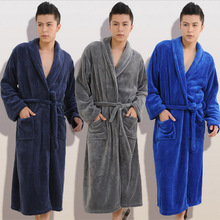 2015 Winter Autumn  thick  flannel men's women's  Bath Robes  gentlemen's homewear male sleepwear lounges pajamas pyjamas