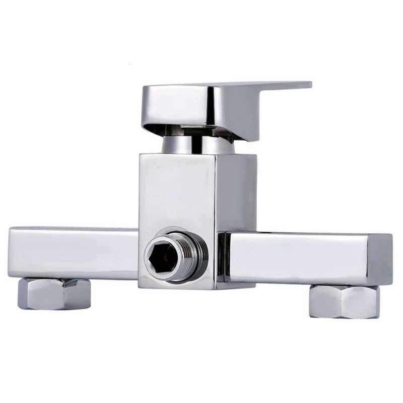 High Quality Electroplate Square Shower Faucet Temperature Adjust Faucet Bathtub Faucet Plumbing Sanitary Ware Bathroom Parts(China (Mainland))