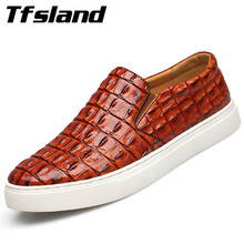 Buy Tfsland Luxury Men Soft Crocodile Leather Driving Shoes New Spring Breathable Slip Flats Walking Shoes Sneakers Plus Size 47 for $21.19 in AliExpress store