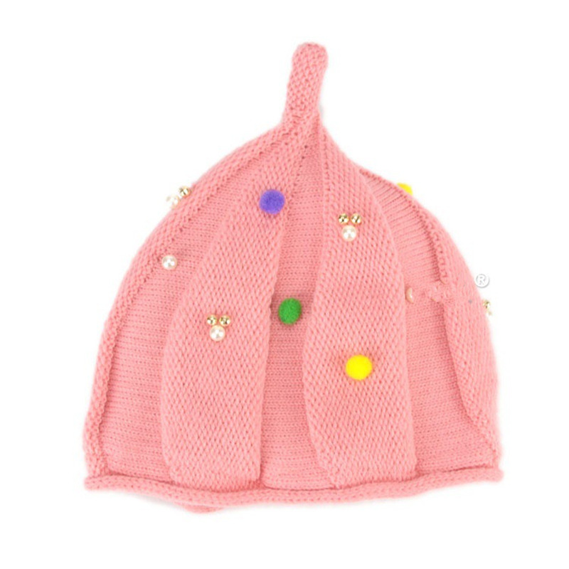 Newborn photography props knitted warm tip baby hat Acrylic bonnet enfant winter beanie cartoon girls hats(China (Mainland))