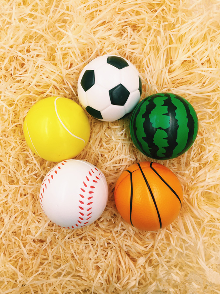 10cm Foam Soccer Football Baseball Tennis Ball Children Look Decompression Stress Children Baby Toys(China (Mainland))