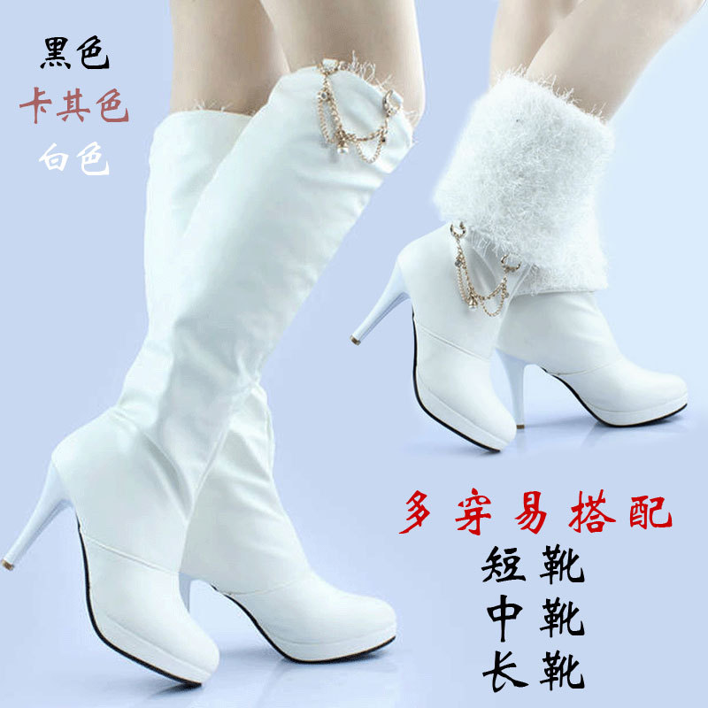 suede boots promotion freeshipping women solid free shipping 2015 new autumn and winter tall boots platform high long hot sale(China (Mainland))