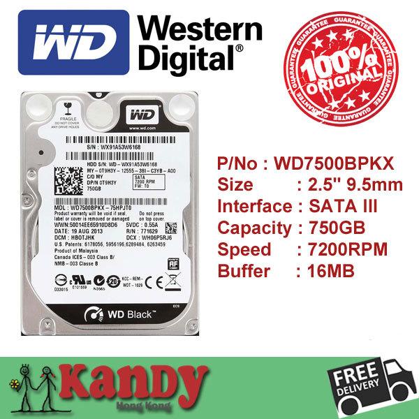 Western Digital WD Black 750GB hdd 2.5 SATA disco duro laptop internal sabit hard disk drive interno hd notebook harddisk disque(China (Mainland))