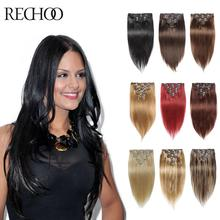 Buy Clip Hair Extensions Human Hair 7 Pieces Remy 7A Clip Extensions 16 18 Inch Straight Clips Brazilian Hair Extensions for $33.78 in AliExpress store