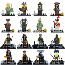 Sale Single Pirates of the Caribbean Minifigures For Individually Sale Mermaid Jack Captain Action Figures Building Blocks Toys