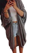 D6li 2016 Autumn Winter Simply Fashion Casual Knit Sleeve Sweater Coat Cardigan Jacket High Quality March3 RU(China (Mainland))