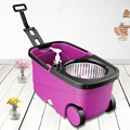KOYIDA spin Mop bucket Portable Magic double drive Stainless steel hand pressure rotating with head household
