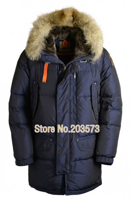 Free shipping By EMS Kodiak long coat men fashion luxury brand down jacket in winter outdoor living real Parkas fur DT230(China (Mainland))