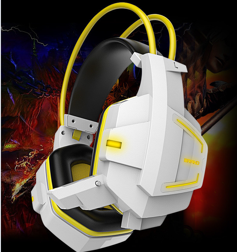 TTLIFE Deep Bass Game Headphone Stereo Surrounded Over-Ear Gaming Headset Headband Earphone With Light For Computer PC Gamer
