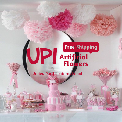 1 piece/lot 10inch(25cm) Handmade Wedding Tissue Paper Flowers Ball 20 Colors Pom Poms & Home Decoration - Union Pacific International Trading Ltd. store