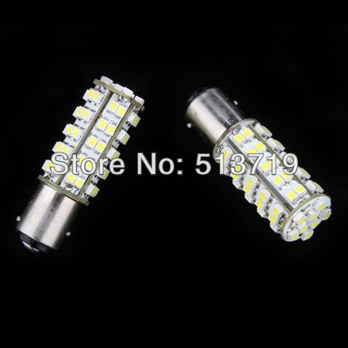 wholesale 2X1157 BAY15D 7528 68 LED 3528 SMD Brake Light Bulb xenon White Auto Interior Packing Car Styling(China (Mainland))
