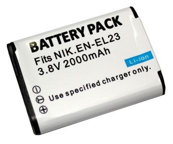 EN-EL23 ENEL23 EL23 Equivalent Camera Battery for Nikon COOLPIX P600, P610, P900, and S810c Cameras.
