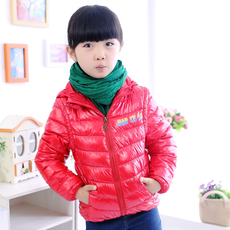 Free shipping children clothing girls boys clothes outerwear coat Zipper Hooded Short Down winter warm cotton kids jackets39(China (Mainland))