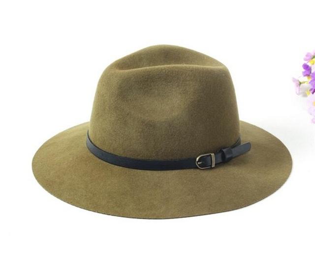 6pcs/Lot Fine Mens Floppy Wool Fedora Hat 2017 Ladies Winter Felt Hats Fashion Women Autumn Trilby Cap Men Spring Fedoras Caps