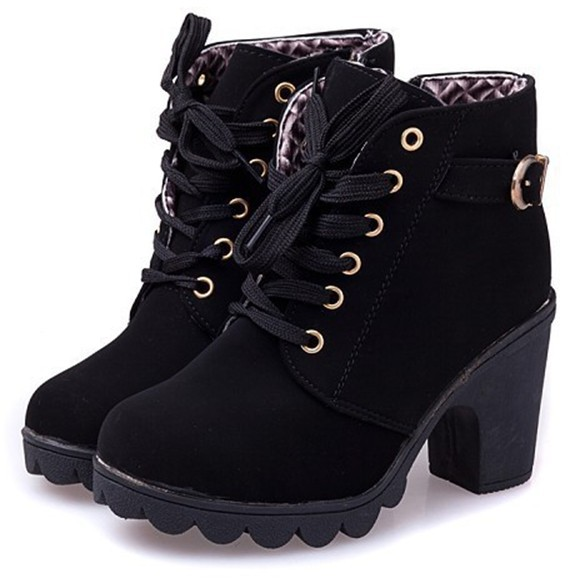 new 2014 brand platform high heel single shoes vintage Women Motorcycle Boots Martin Boots,size 35-39,free shipping 367(China (Mainland))