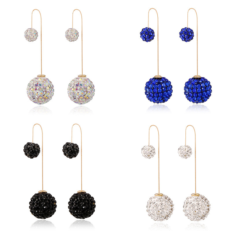 2015 new design crystal long double sided earrings elegant boucle d 39 oreille fashion jewelry 18k. Black Bedroom Furniture Sets. Home Design Ideas