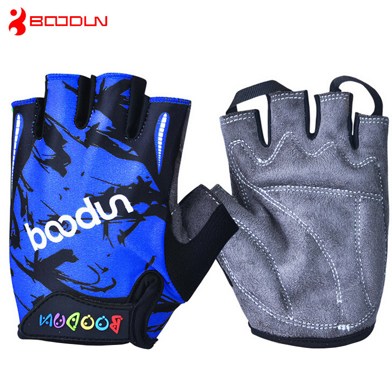 Children Road Bike Gloves Breathable Riding Half Finger Mountain Bicycle MTB Cycling Gloves for Kids Boys Girls Sports Gloves(China (Mainland))
