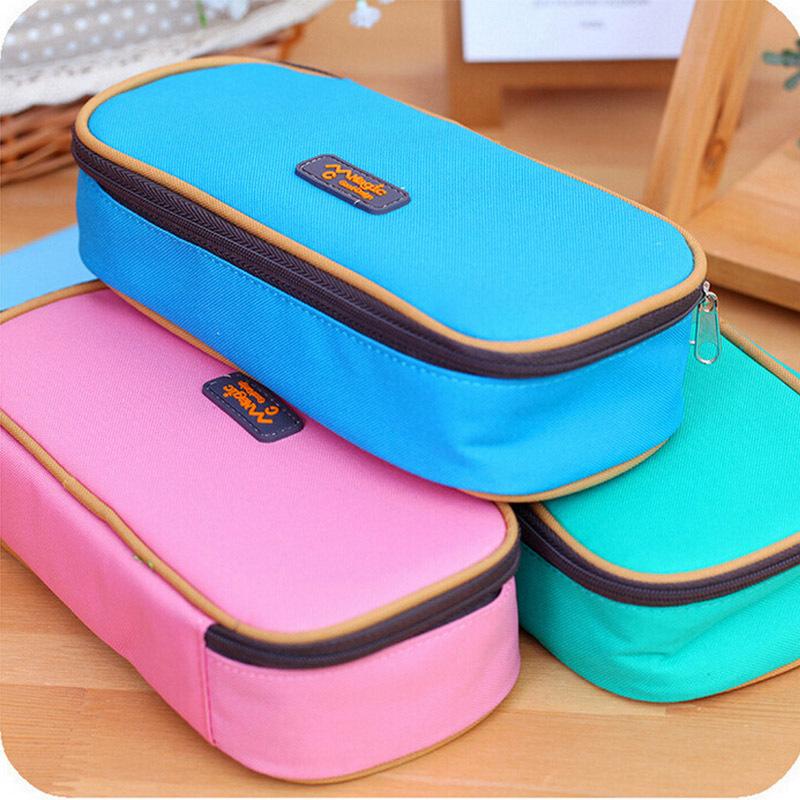 New korean pencil case big capacity school pencil case school supplies staionery pencil bag(China (Mainland))