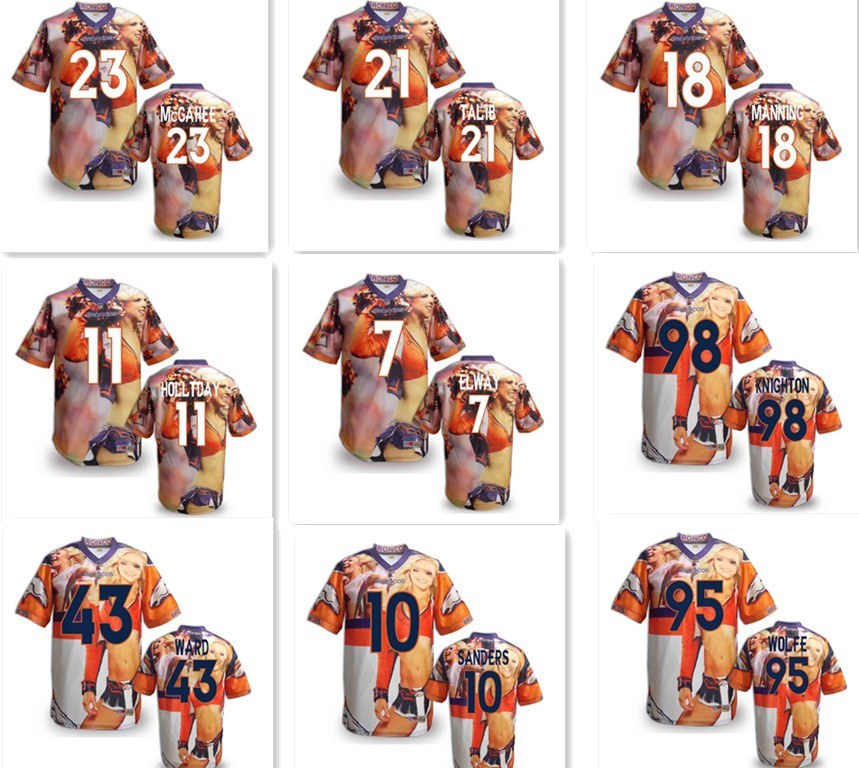 Cheap All Blacks Rugby 2014 New Rugby Shirt American Broncos 87 DeMarcus Ware Elite Orange Rugby Jersey(China (Mainland))