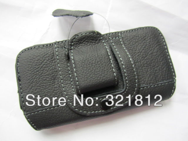 Black Leechee Litchi Hip leather case for iphone 5 5G 5S / 6 6G 4.7 Holster Hard Clip belt pouch pouches 30pcs Free shipping(China (Mainland))
