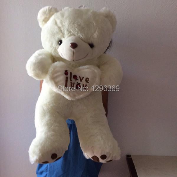 "Free Shipping 70cm Large Teddy Bear Stuffed Animals Toys Plush Doll 27.6"" Giant Stuffed Teddy White Bear Plush Toy(China (Mainland))"