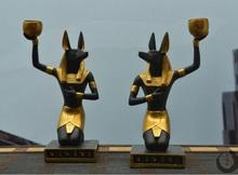 Egyptian Knee Sitting Anubis Dog Statue 18.5cm Height(China (Mainland))