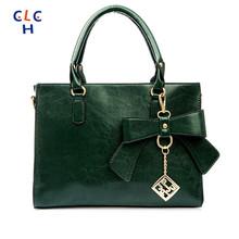 Green BOW BAG Ribbon Sac Vert Sac A Main Femme De Marque Bolsa Feminina Bolsas Women'S High Quality Designer Bag 2016 Butterfly