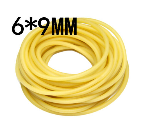 5M without joint 6x9mm Natural Latex Rubber Band Bungee Accessory for Outdoor Hunting Slingshot Catapult