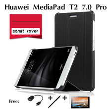 For Huawei MediaPad T2 7 . 0 Pro tablet computer holster case Ultra Thin Premium Folio PU Leather Case Stand Holder Smart Cover(China (Mainland))