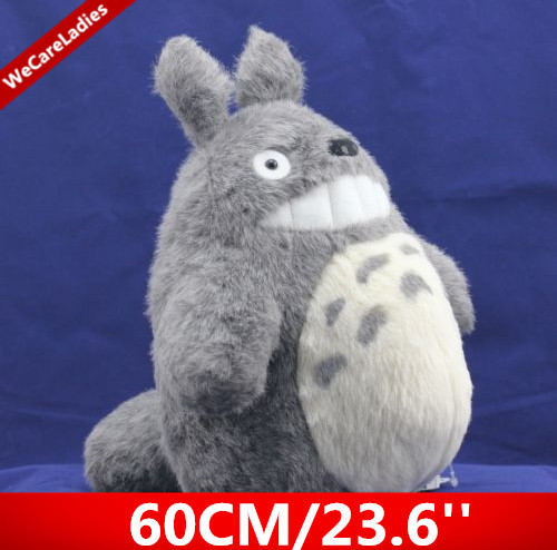 60cm/23.6 Inch Cute Japan Anime Soft Plush Totoro Galesaur Chinchilla Toys Of Film My Neighbor TOTORO GIft For Kids(China (Mainland))