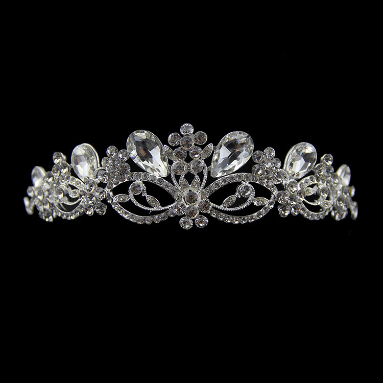 2014 cheap crystal tiara wedding gastby hair crown Vintage bridal rhinestone accessories XB47 - Kay's Wedding store