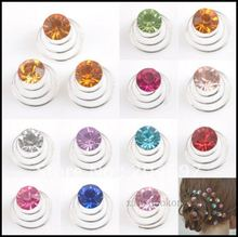 Mix 120pcs Multicolor Crystal Twists Spins Hair Pins Bridal Hairpin Fashion Wedding Jewelry Hair Ornaments Accessories