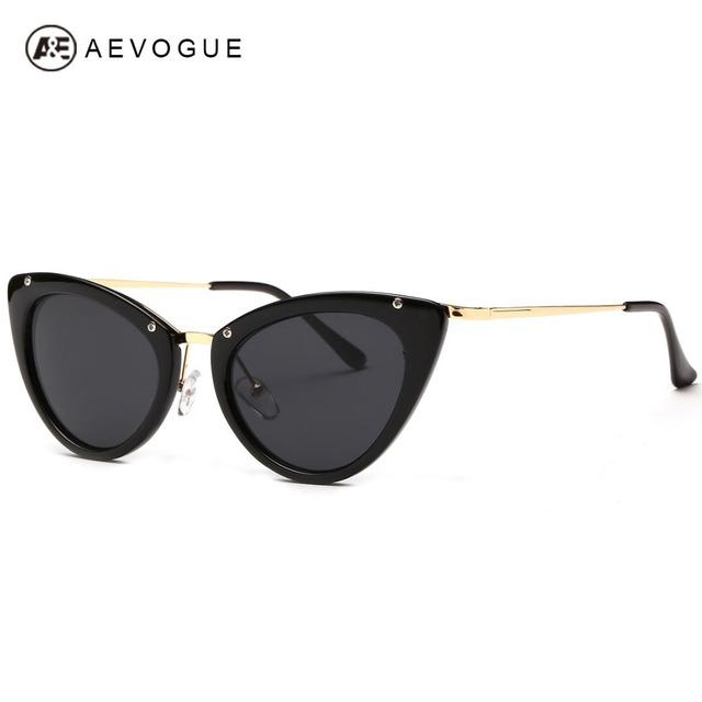 Aevogue новые дизайна бренда солнцезащитные очки женщины высокое качество металла храм зеркало линзы кошачий глаз солнцезащитные очки óculos UV400 AE0248