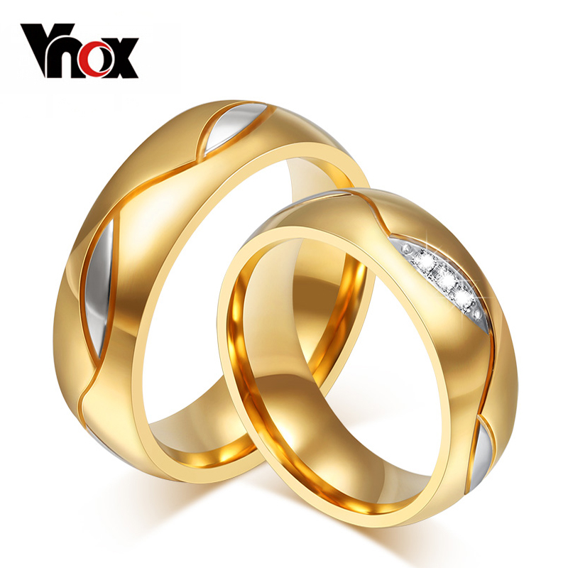 Wholesale 10pcs/lot couple ring for lovers 18k gold plated stainless steel supper mix size <br><br>Aliexpress