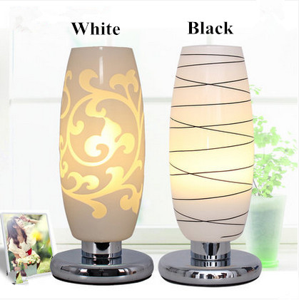 Nordic fashion carved art glass table lamps Modern classic elegant floral glass lights for bedroom&bedside&narrow table(China (Mainland))