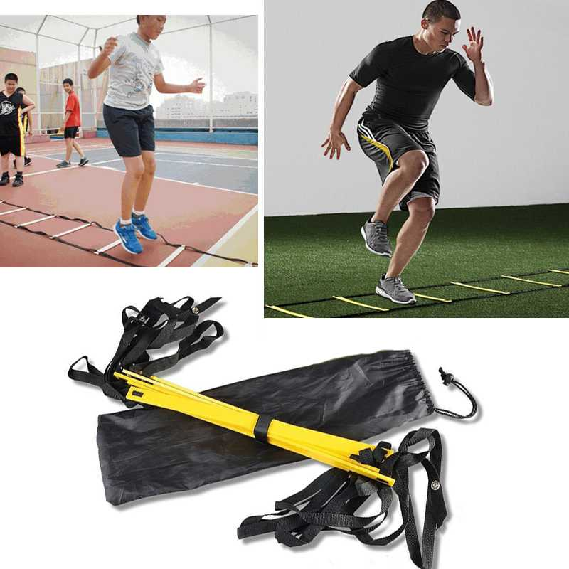 Free Shipping + 4.78M Durable Soccer Training Ladder Durable 9-rung Agility for Soccer Speed Football Training Equipment + Bag(China (Mainland))