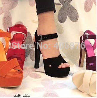 Free shipping NEW high heel sandals fashion women dress sexy shoes slippers  hot sale EUR size 34-43<br><br>Aliexpress