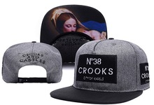 2016 New Crooks and castles snapback hiphop hip-hop hat male Crooks Castles snapback cap